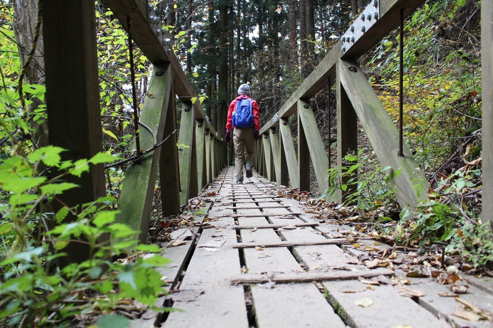 安定感ある、揺れない橋