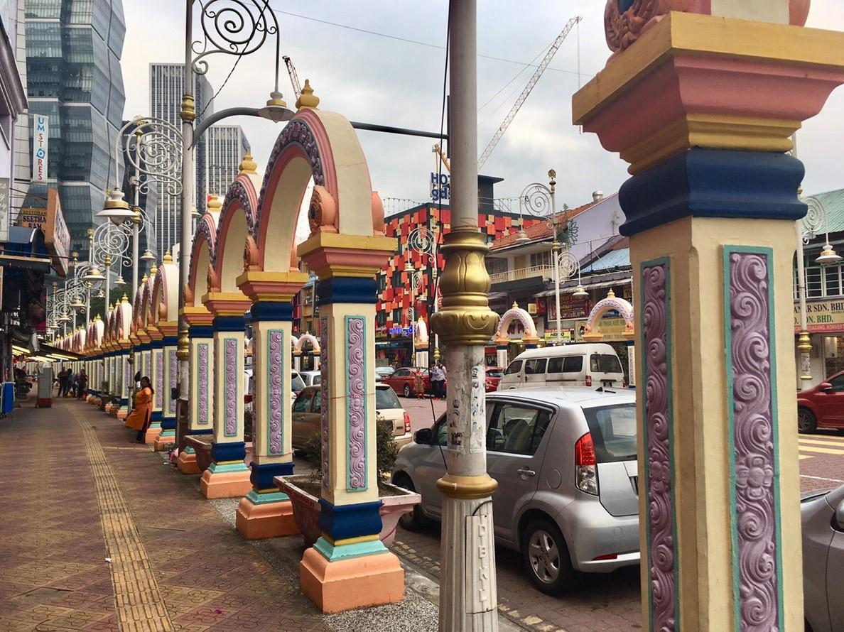 インド人街のアーケード